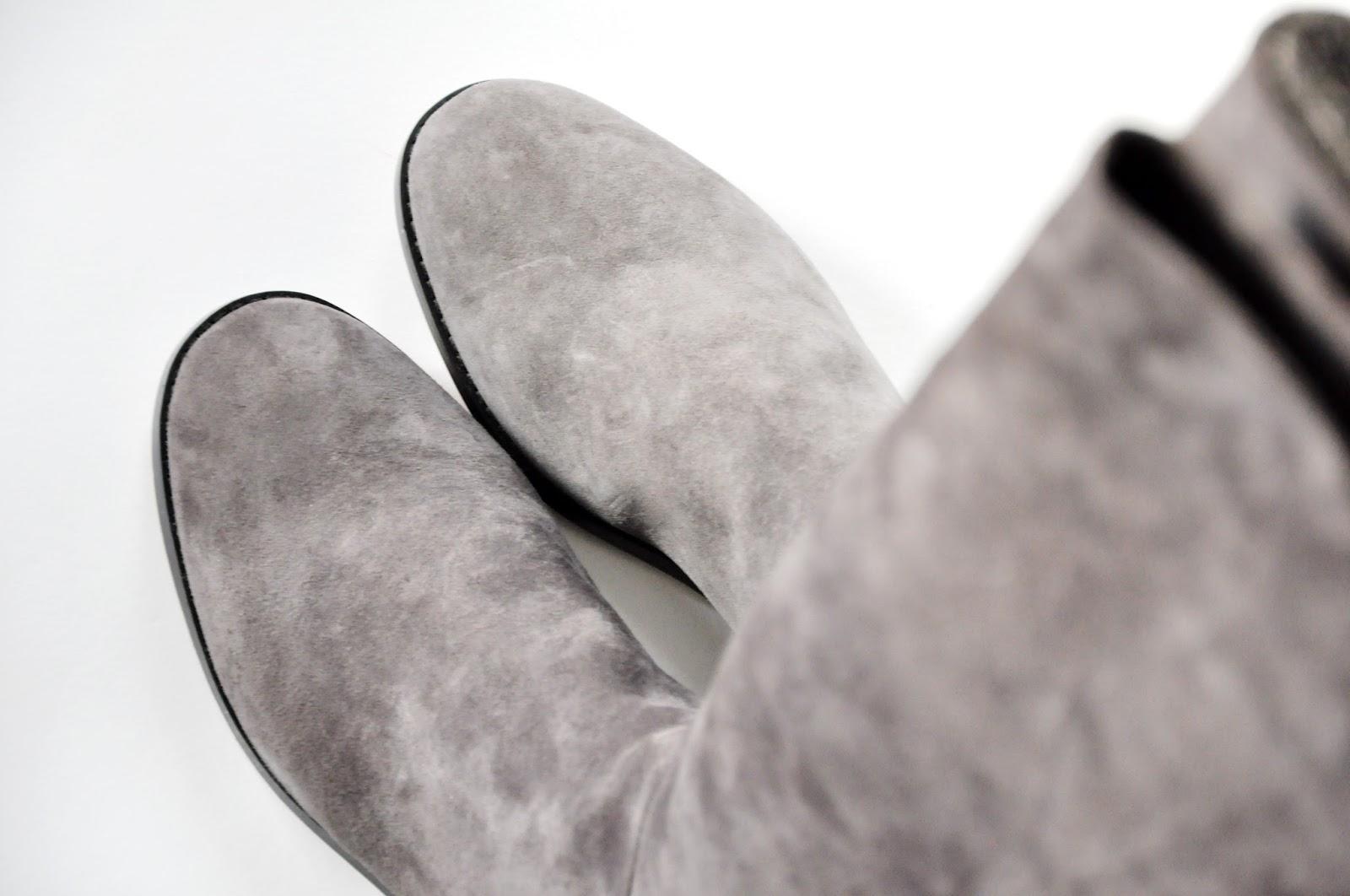 серые сапоги
