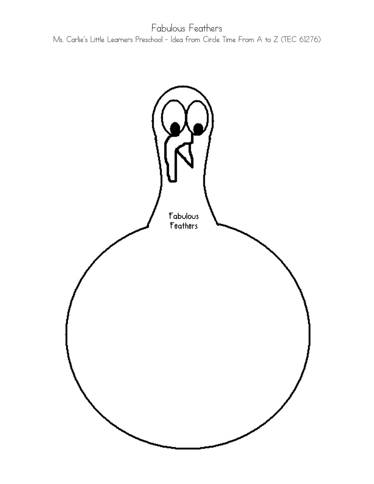 Body of a turkey coloring pages for Turkey body outline