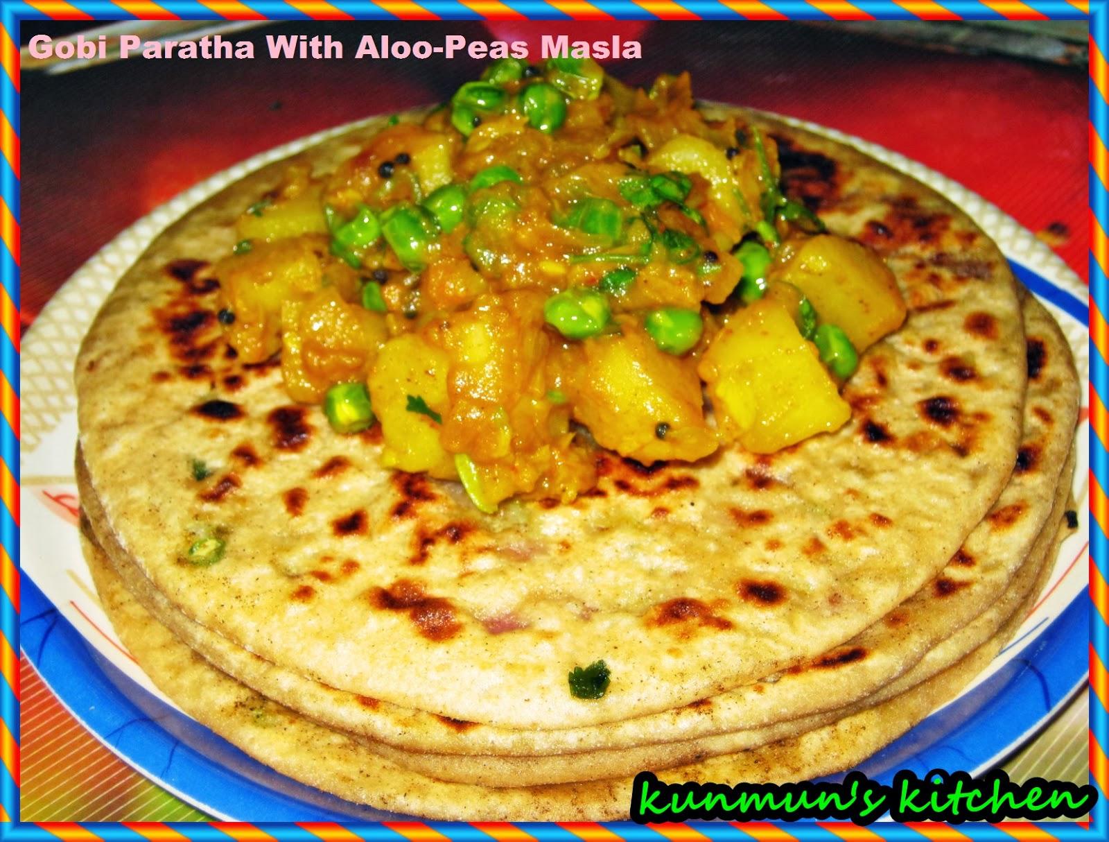 Kunmun's Delicious Kitchen: GOBI PARATHA (CAULIFLOWER PARATHA)