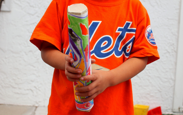 how to make a super easy rain stick craft with kids