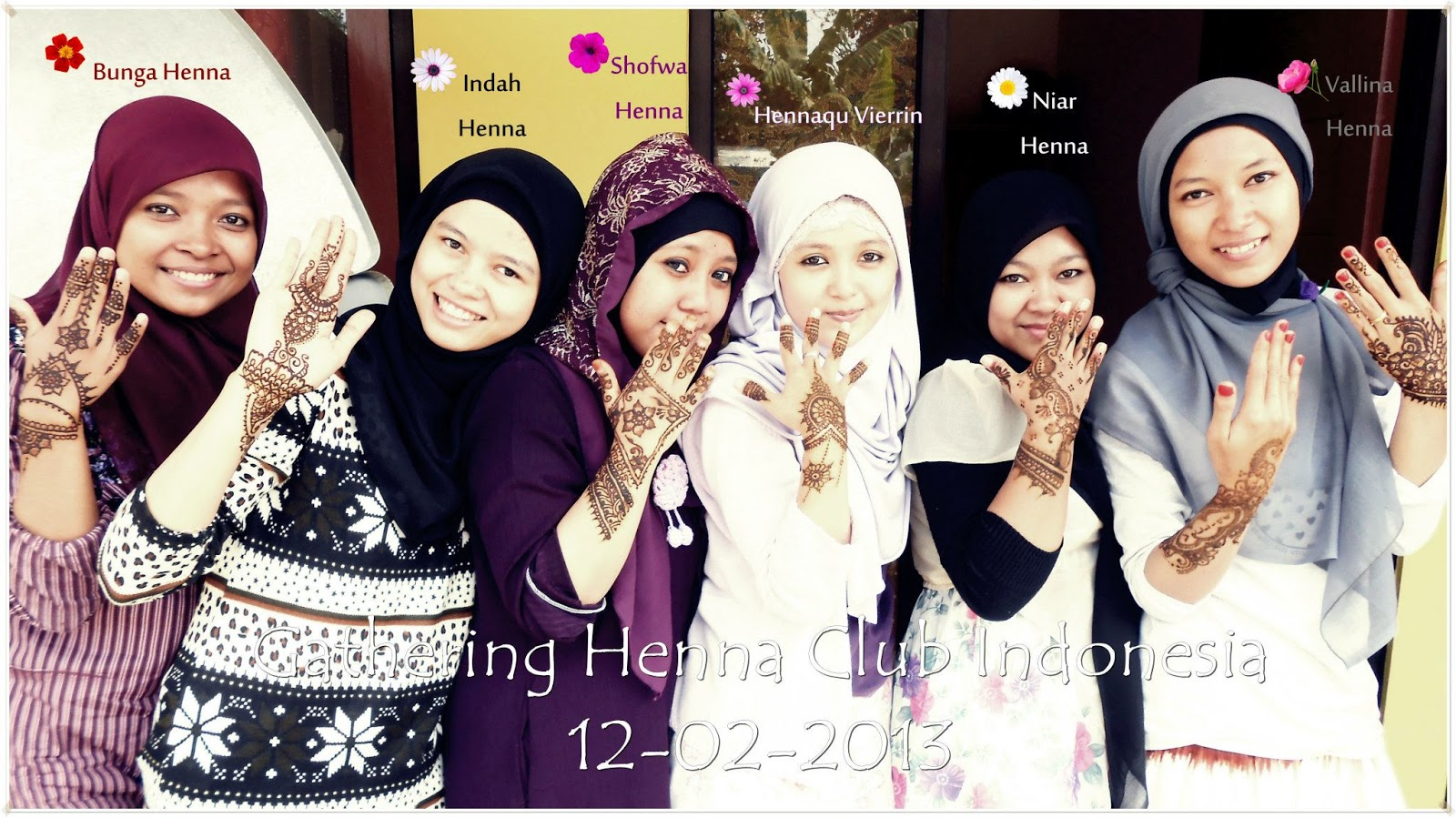 INDAH HENNA DESIGN Gatering Henna Club Indonesia