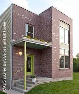 Fachada de una casa moderna nueva