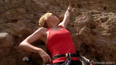 Yvonne Strahovski cliffhanging