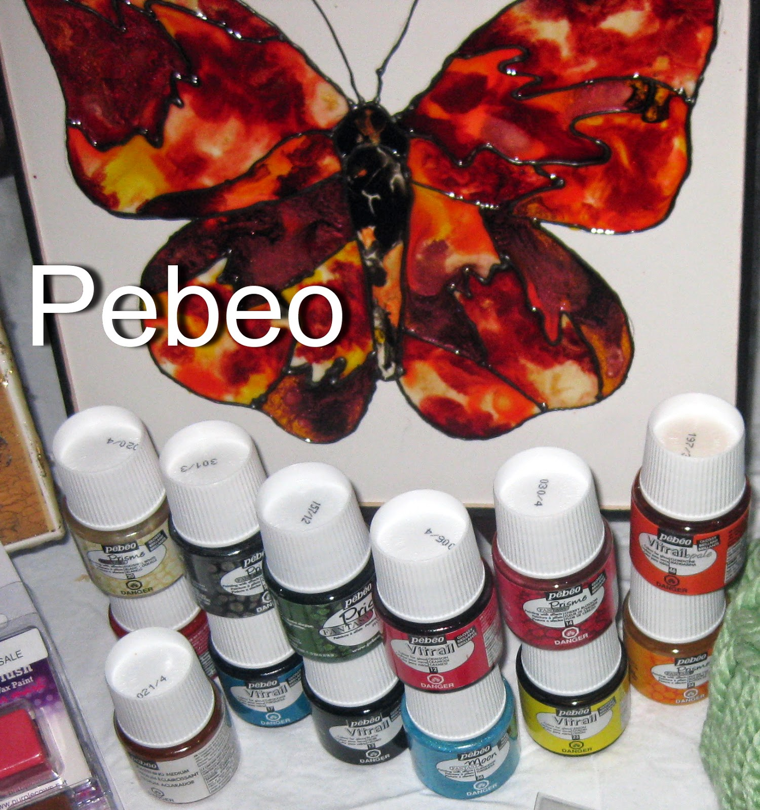 Pebeo paints and canvas