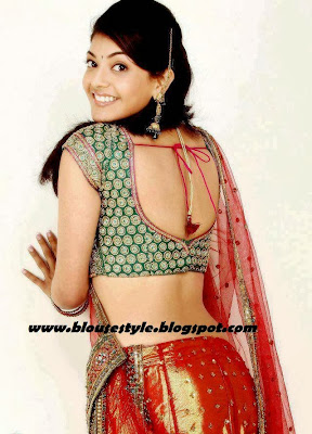actress kajal agarwal in back hook blouse