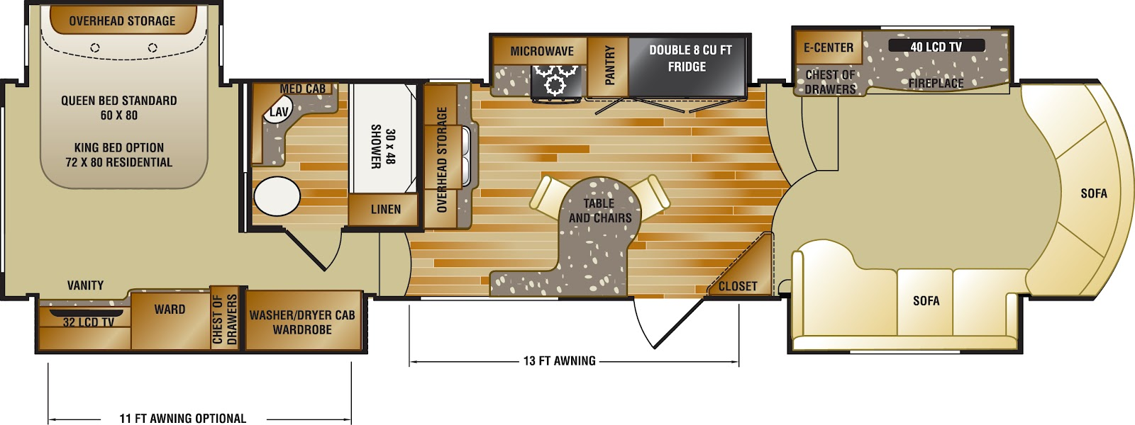 Fifth wheel front living room floor plans 5th wheel with front living