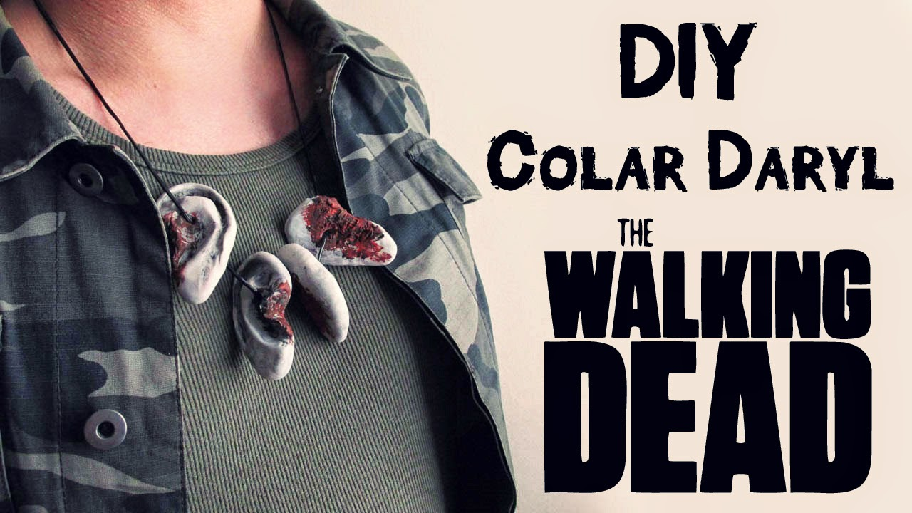 DIY: Como Fazer Colar de Orelhas do Daryl Dixon - THE WALKING DEAD