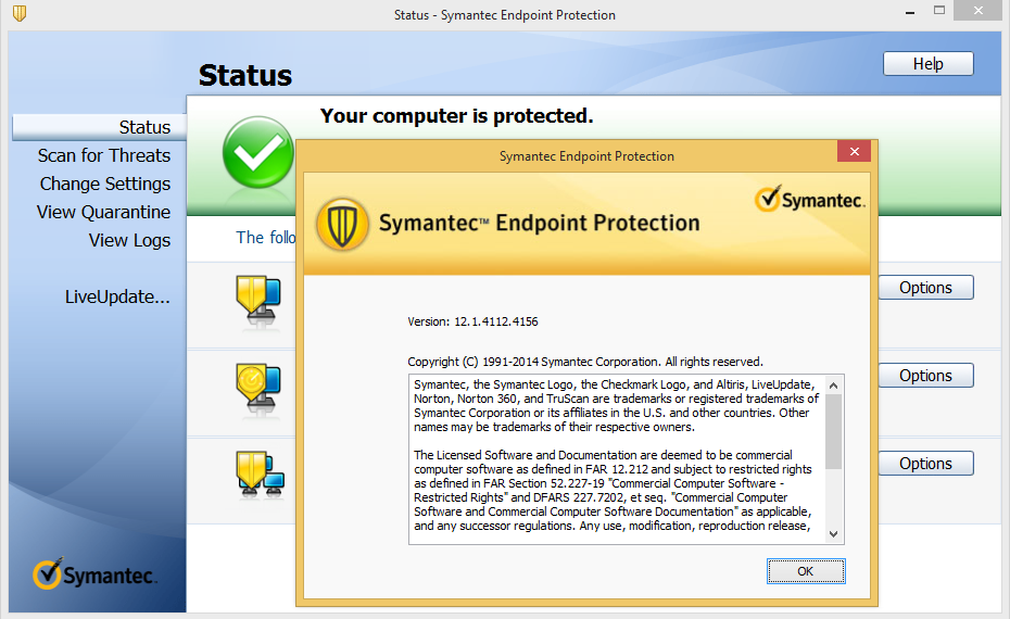 Symantec Endpoint Protection v12.1.4112.4156