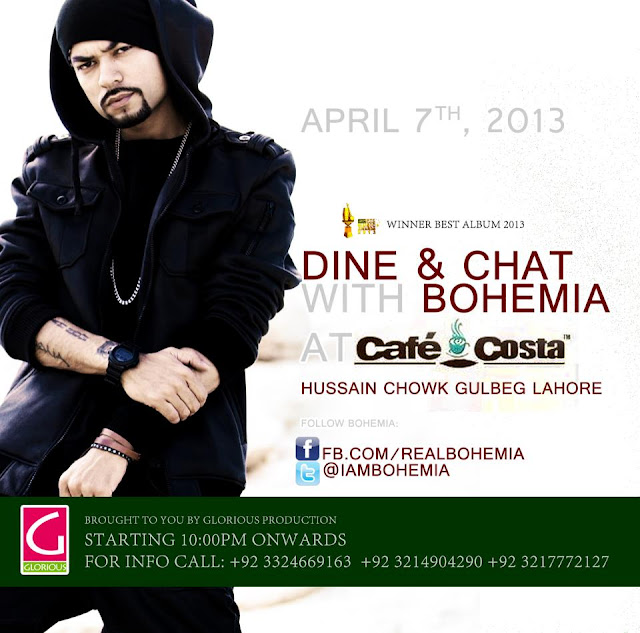 Dine & Chat with BOHEMIA the punjabi rapper at Cafe Costa in Lahore pakistan live