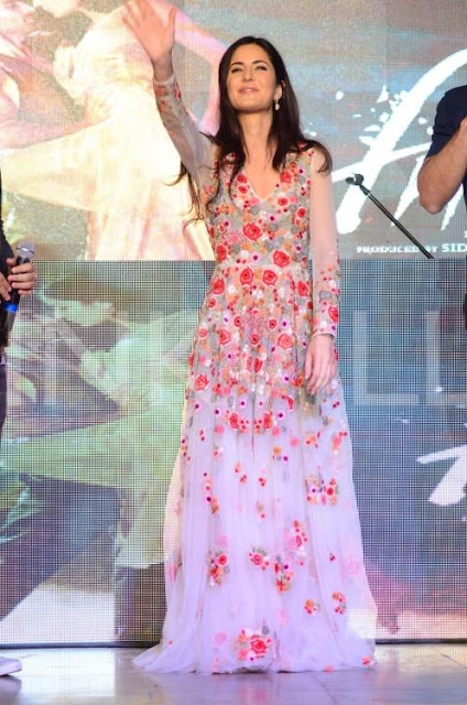 Katrina Kaif in Varun Bahl Floral Embroidered Designer Gown