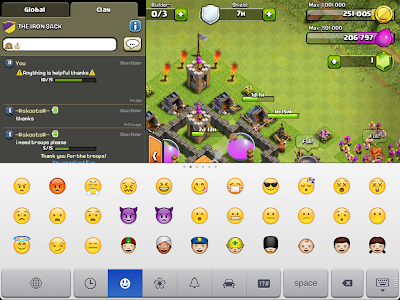 Clash of Clans chat smileys