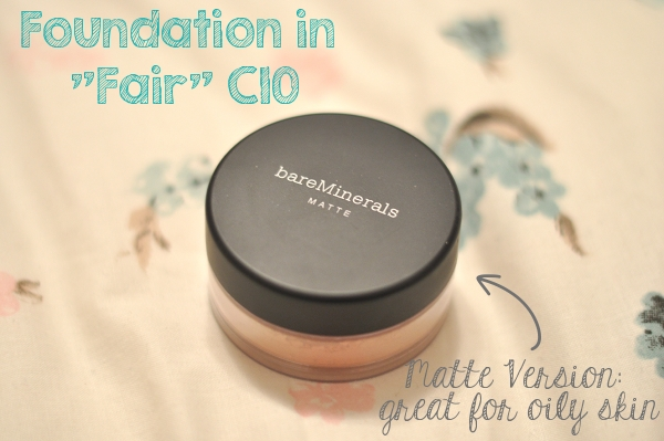 bareminerals matte foundation in fair review