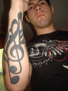 Musical Notes Symbol tattoo on Guys Forearms