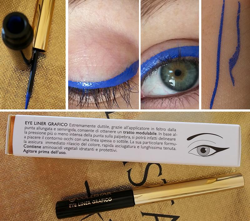 Collistar collezione bellezza italiana, eye liner grafico blu valeria swatch