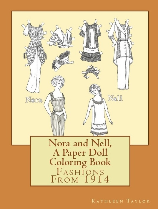 Nora and Nell- A Paper Doll Coloring Book