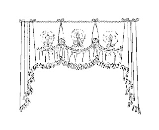 curtain vintage design clip art