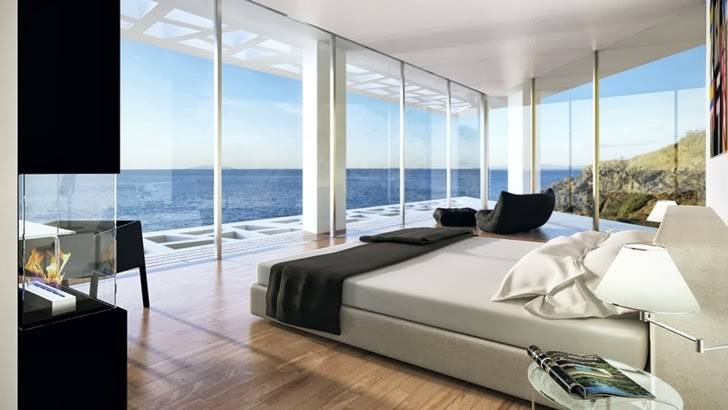 Bedroom view in Modern villa by Studio Aristo