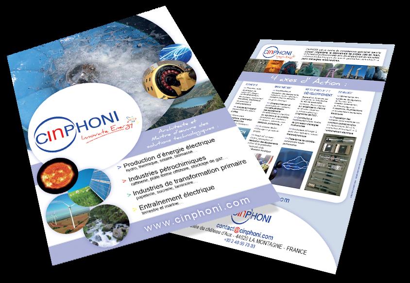 Création et réalisation de la plaquette Cinphoni par Label comunication - Nantes
