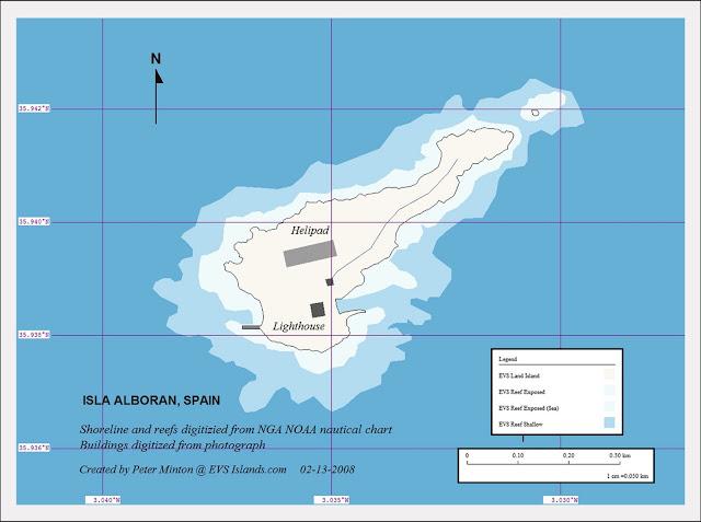 Mapa isla de Alborán