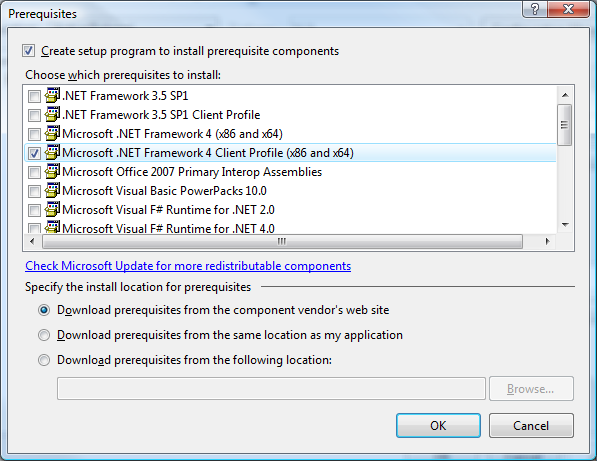 Visual Studio Installer Prerequisites