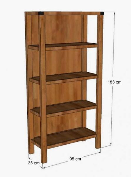 Diy c mo hacer tu propia estanter a hacer bricolaje es - Como hacer estanterias de madera ...