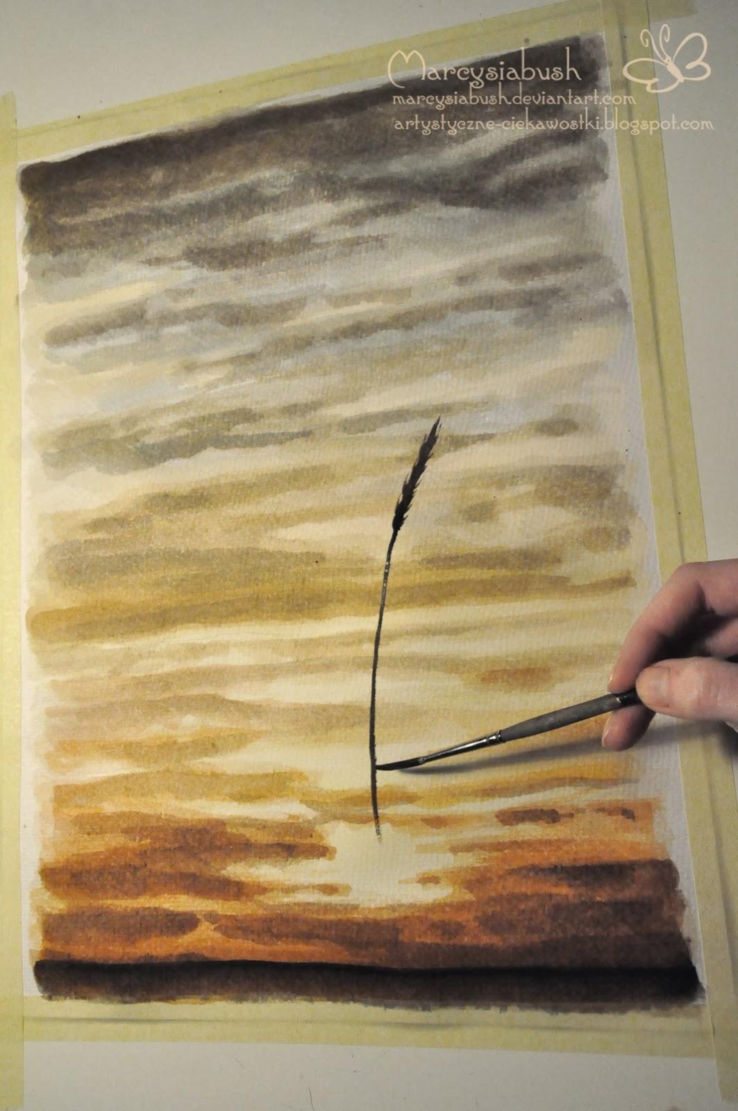 Artystyczne Ciekawostki Marcysibush Jak Malować Farbami Akwarelowymi