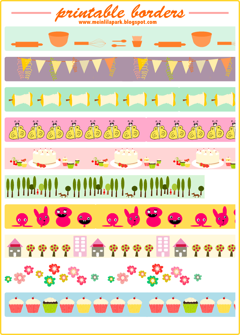 Juicy image with free printable washi tape