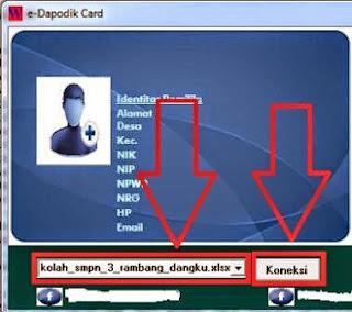 gambar Cara Membuat Kartu identitas PTK Dengan Aplikasi E-Dapodik