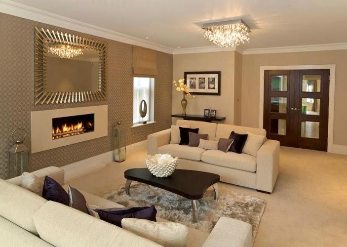 desain Dekorasi warna cat ruang keluarga