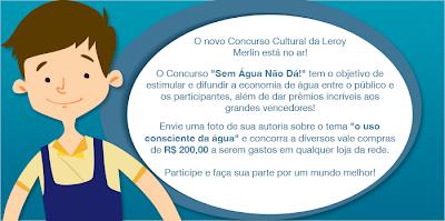 """Concurso Cultural """"Sem água não dá!"""""""
