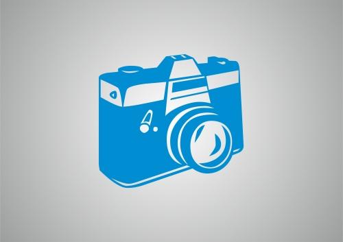 Câmera fotográfica azul