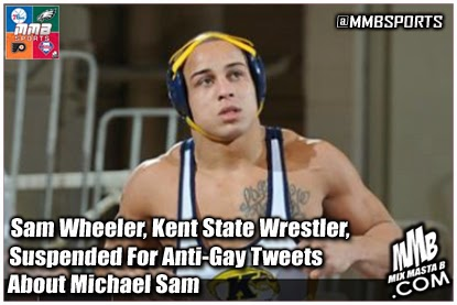 Sam Wheeler Kent State Wrestler Suspended For Anti Gay Tweets About Michael Sam Mmbsports