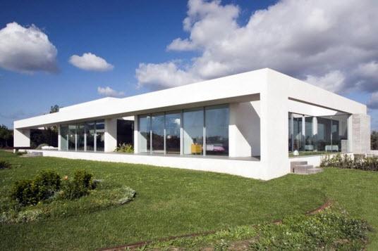 Casa con dise o minimalista de un piso fotos construye for Casa minimalista 3 pisos