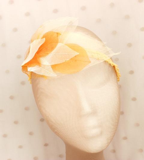 Colección Hojas - Banda elastica estrecha naranja