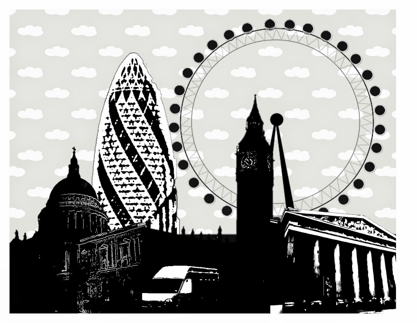 DIY London Skyline Art