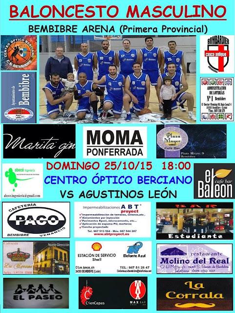 BALONCESTO MASCULINO 25-10-2015 18:00 BEMBIBRE ARENA