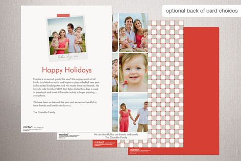 The wish banner holiday postcard is a wonderful design if youre wanting to use multiple photos and send out a postcard style card