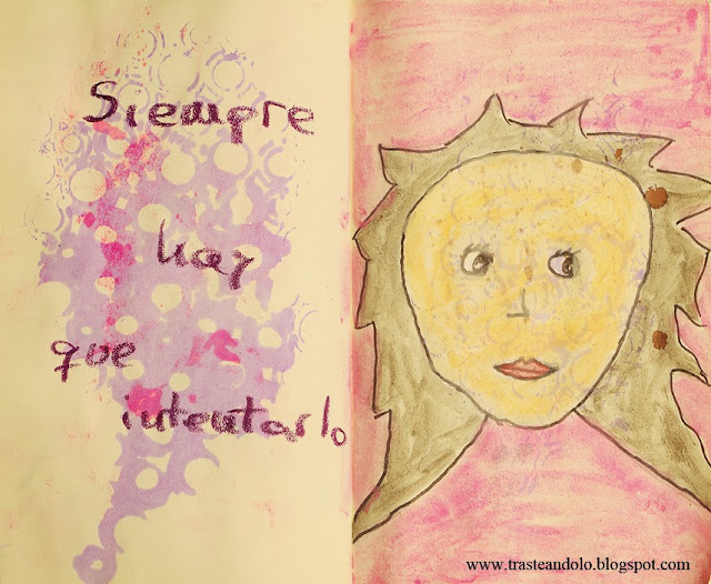 art journal mini muñeca trasteandolo