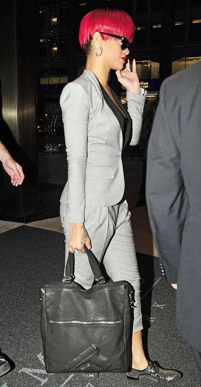 Rihanna with Vlieger & Vandam 'Guardian Angel' handbag