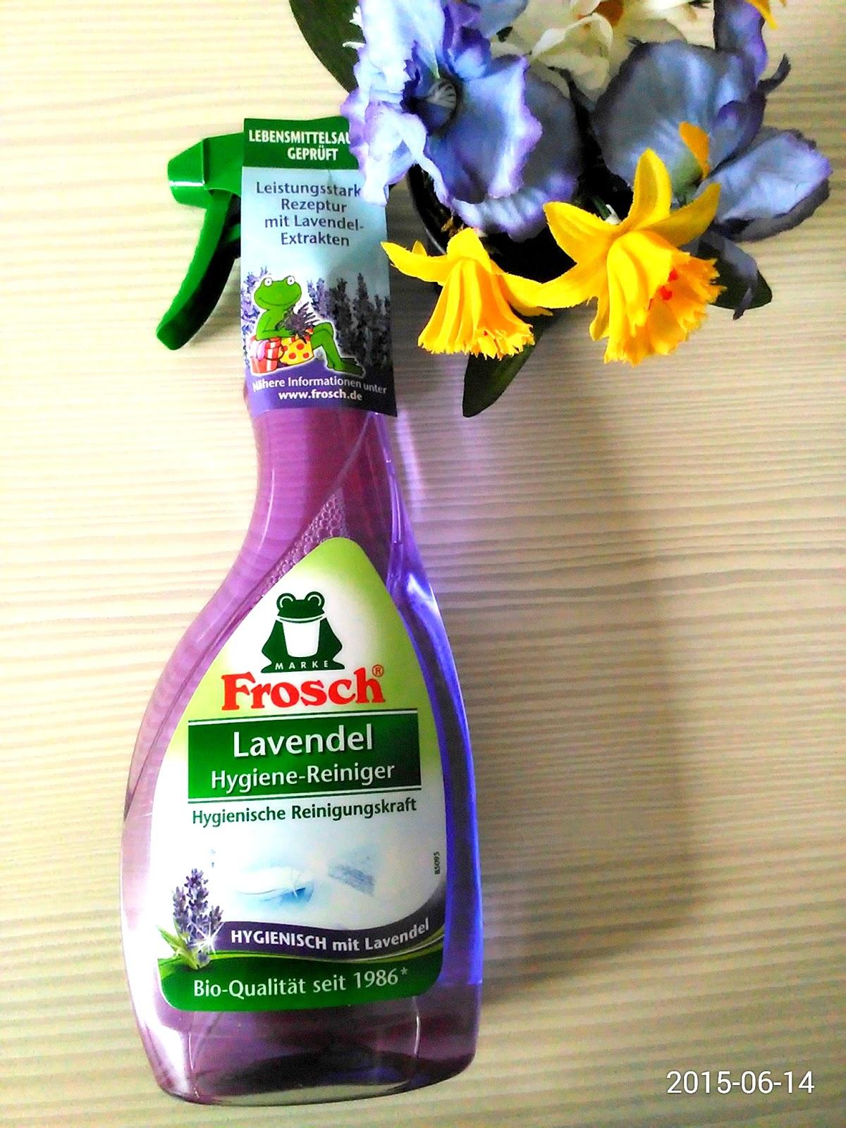 irinastestwelt frosch lavendel hygiene reiniger. Black Bedroom Furniture Sets. Home Design Ideas