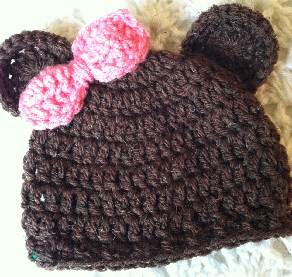 Lakeview Cottage Kids Mr And Miss Brownie Bear Crochet Baby Hats