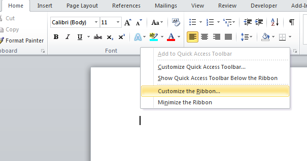 how to change tabs in word mac