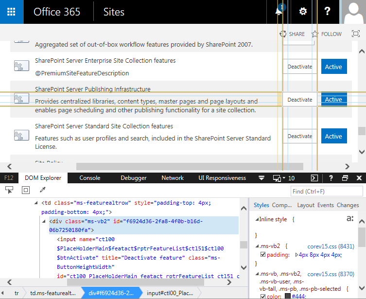 how to find feature id in sharepoint