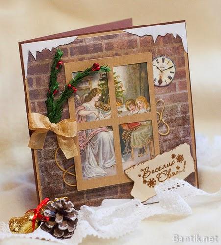 Оригинальные открытки своими руками на рождество новый год