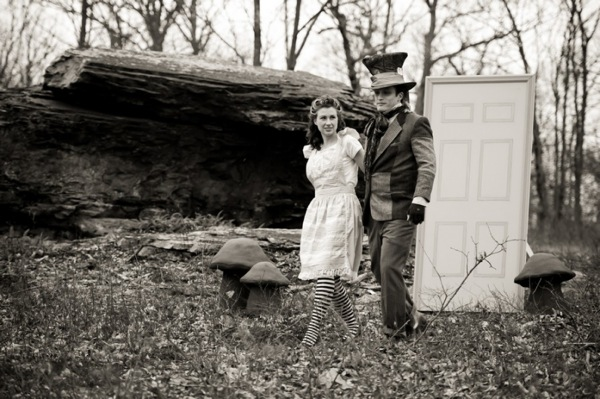 Alice in Wonderland - Themed Wedding Photos