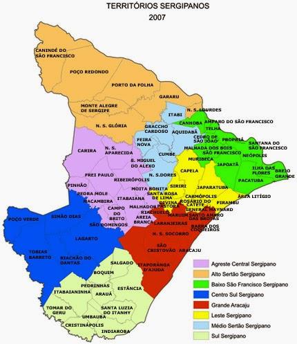 Os 75 Municípios de Sergipe