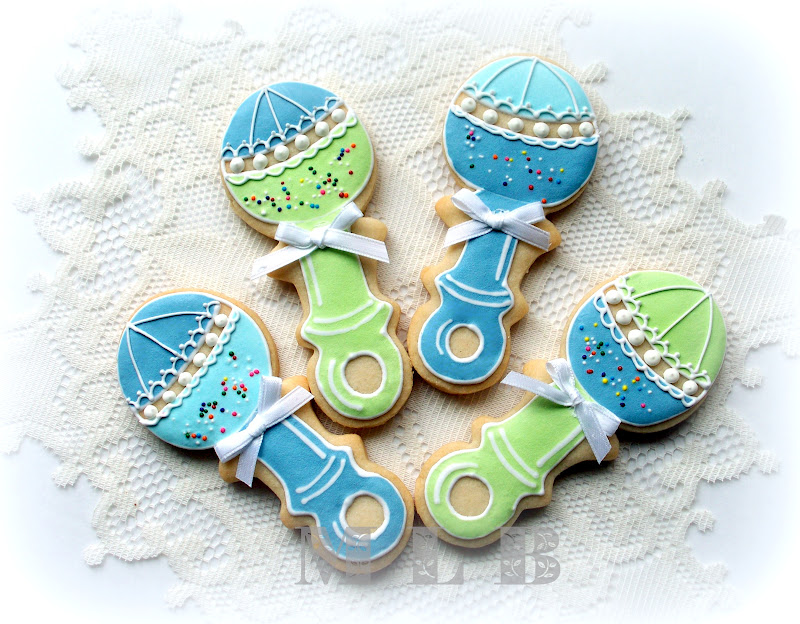 my little bakery baby boy shower cookies