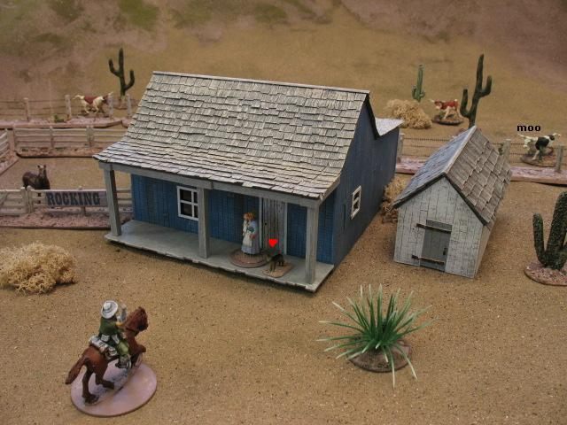 A 28mm brain old west 7 meanwhile back at the ranch for Ranch house con cantina