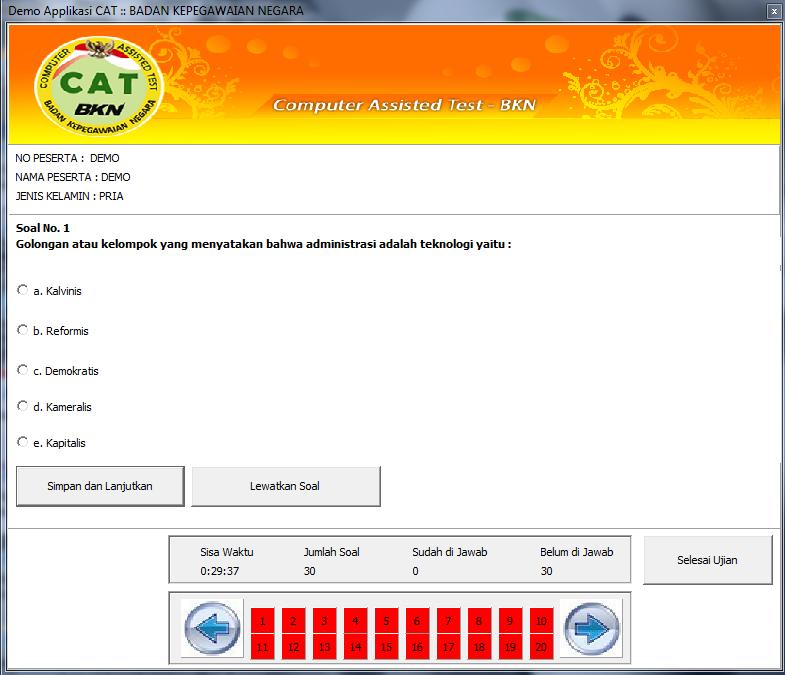 Aplikasi Simulasi CAT-BKN