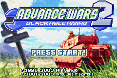 Advance Wars 2: Black Hole Rising title screen